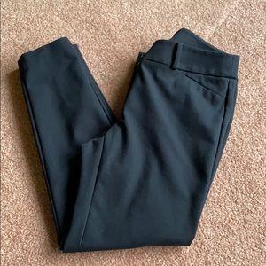 Loft Ann Taylor black Julie skinny @ pants size 2.